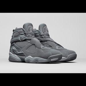 Cool Grey Air Jordan 8